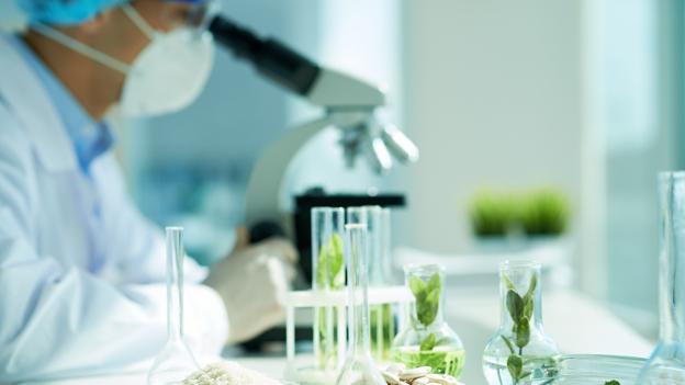 Forscher arbeitet im Labor.